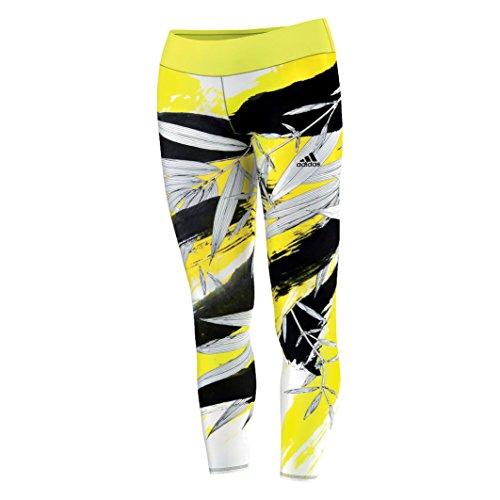 Adidas Workout Asia Training Tight Femme Jaune/noir - Jaune/noir
