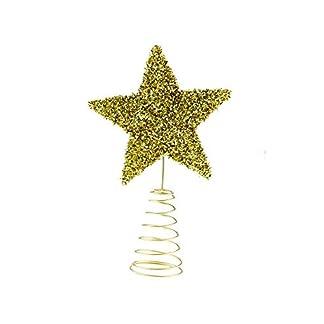 Clever Creations – Adorno para coronar el árbol de Navidad – Ideal para árboles de Cualquier tamaño – Plástico Brillante Resistente a los Golpes – Estrella