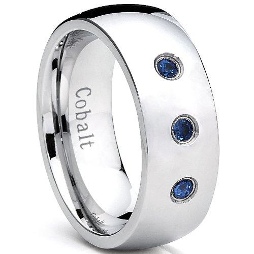 ultimate-metalsr-anillo-de-matrimonio-cobalto-para-hombre-banda-acabada-pulida-con-tres-zafiros-azul