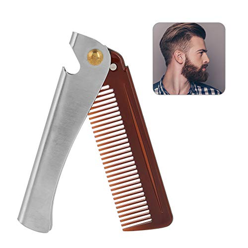 Peine Hombre, Cuidado Barba Pelo, Plegable, com Spring