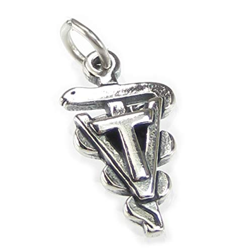 VET Tech Symbol Sterling Silber Charm 925 X 1 Tierärzte Veterinary Charms CF5818