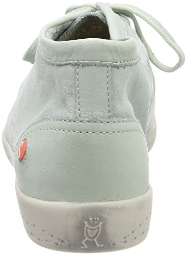 Softinos Damen Indira Washed Hohe Sneaker Grün (Pastel Green)