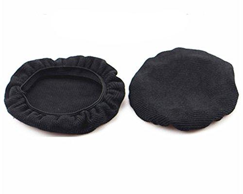 YunYiYi 1 Paar Schwarz Stretch-Schutzhülle für Sony Playstation Wireless Stereo 2.0 Headset für PS4 PS3 PSVITA Kopfhörer