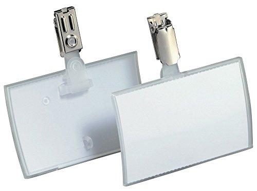 Preisvergleich Produktbild Durable 821619 Namensschild Click Fold (54 x 90 mm mit Clip) Packung à 25 Stück transparent