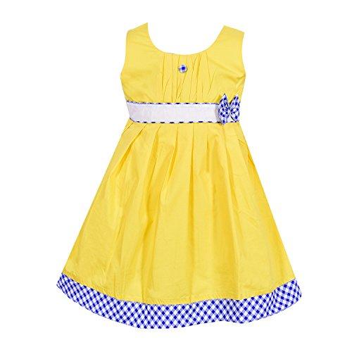 ac48b97b8d88 Wish Karo Baby Girls Cotton Frock Dress DN (ctn013blunw