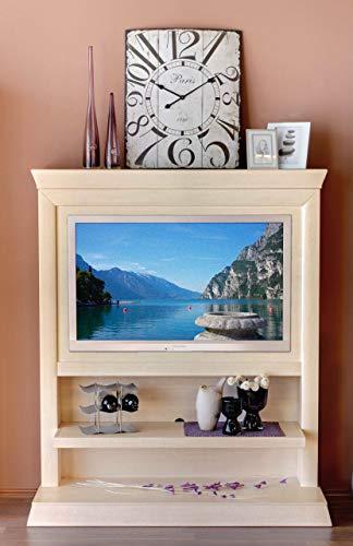 Soma TV Schrank Fernsehschrank TV Wandboard Quadro Pinie massiv (BxHxL) 142 x 167 x 47 cm Pinie Vintage