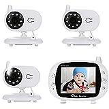 Video Babyphone Mit Kamera, Wireless Smart Babymonitor, 3.5 Zoll LCD Monitor Und 2,4Gwireless Verbindung, Gegensprechfunktion Ton Und Temperaturüberwachung, Nachtsicht, Wiegenlied Und Zweiwege Audio