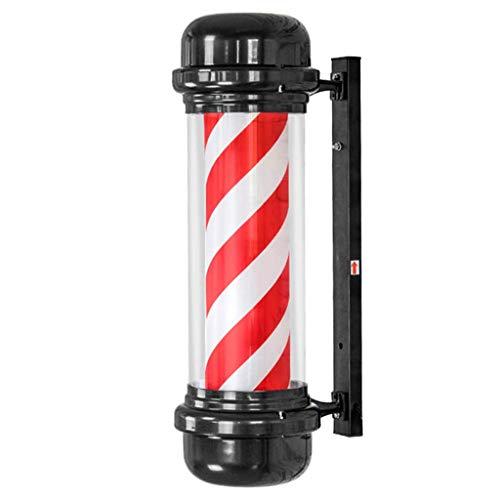 71CM LED Barbers Pole Hair Salon Logo Rotationslicht Rot Weiß Rotationslicht Salon Shop Sign Wandleuchte, 71x30cm