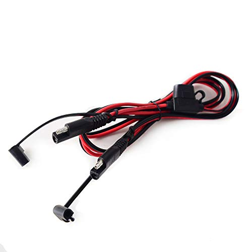 Preisvergleich Produktbild Cocar 5FT Auto SAE zu SAE Verlängerungskabel Schnelltrennung / Verbindung Adapter,  Starkstromanschlusskabel DC-Anschlusskabel mit 15A-Sicherung Kompatibel mit 12V 36V 24V - 16AWG
