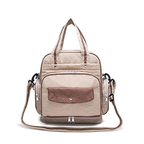Preisvergleich Produktbild Brinny Windeltasche Rucksack mit Riemen, Nassbeutel Große Kapazität 12.5 X 12.2 X 7.5 Zoll - Für Mama und Papa
