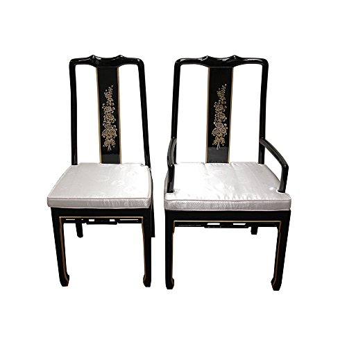 Black Lacquer Dining Room Chairs: Oriental Furniture Fine Asian Style Dining Room Furniture