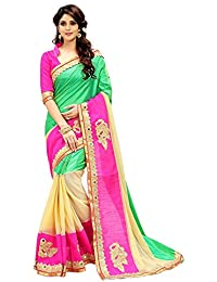 Jashvi Creation Women's Paper Silk Embroidered Saree With Blouse Piece - A1_Multi_Multicolour_Free Size