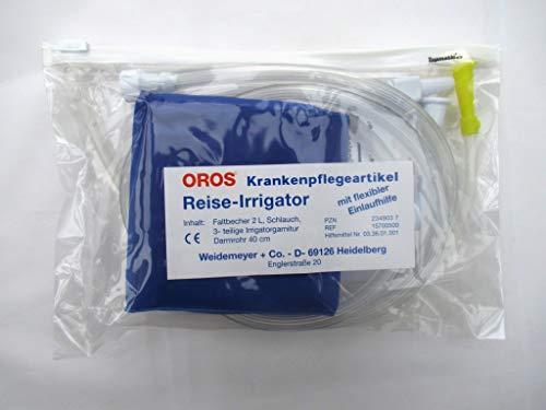 Vitalife-Versand Oros Reise-Irrigator, 1er Pack – mit extra Darmrohr (Einlauf-Gerät)