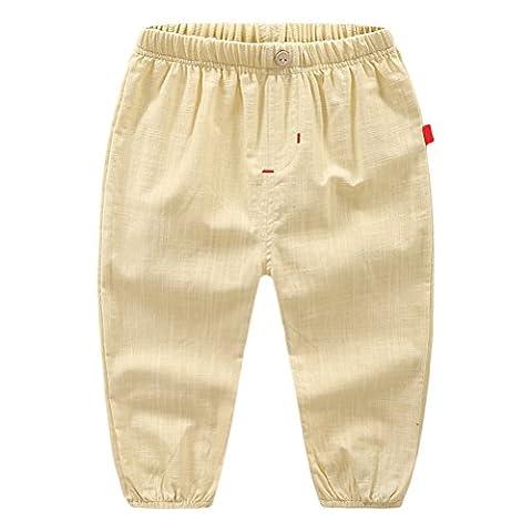 Zhhlinyuan Fashion Multi-color Boy's Trousers Cotton Elastic Waist Slacks