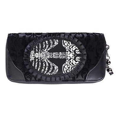 portafoglio banned WBN1414 ivy black ribcage lace wallet