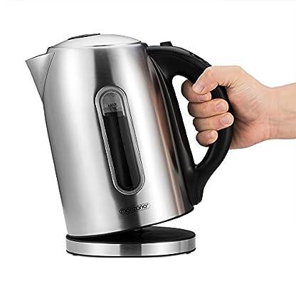 Monzana-Wasserkocher-Teekessel-Teekocher–Edelstahl–BPA-frei–17-Liter–LED–2200W–Temperatureinstellung