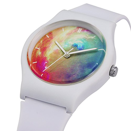 zeiger-montre-enfant-quartz-analog-time-teacher-fille-garcon-blanc-caoutchoc-bracelet-bande-multicol
