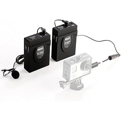 BOYA BY-WM5 2.4GHZ Micrófono de solapa Profesional Inalámbrico sistema de micrófono para Canon 650D 700D 7D 5D2 5D3 Nikon D800 D700 D600 Sony Panasonic DSLR Cámara,DV, Videocámara Gopro Hero 3 4 3+