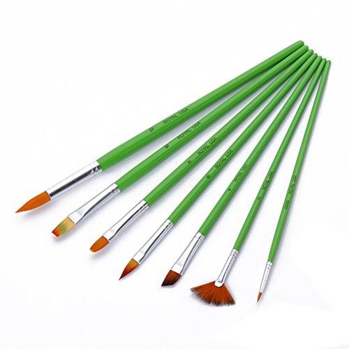 Pixnor Pinsel-Set Pinsel für Malerei Ölfarbe Acryl Wasserfarbe–7-teilig