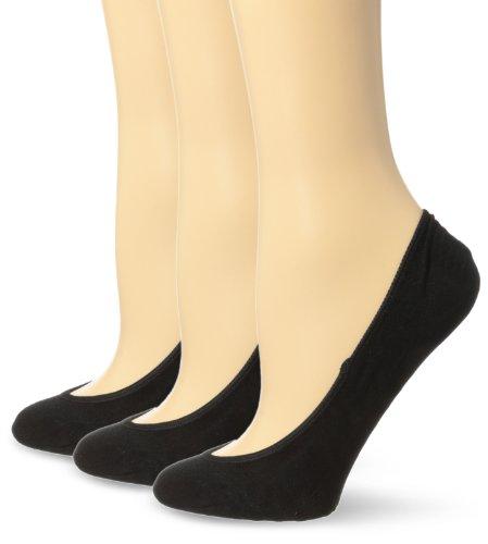 Sperry Top-Sider Womens 3 Pack Solid Micro Liner Socks Black