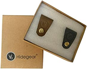 Hidegear Leather Earphone/USB Cord Holders-Set of 2