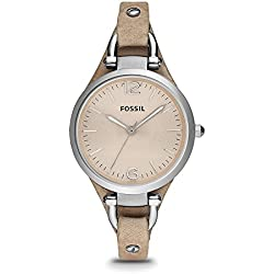 Fossil Georgia Analog Peach Dial Women's Watch