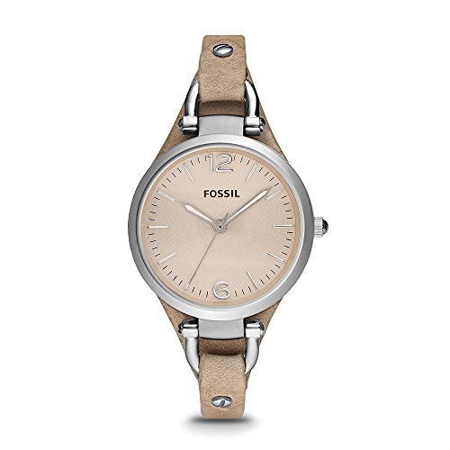Fossil Damen Analog Quarz Uhr mit Leder Armband ES2830 - Für Büro Damen-uhr