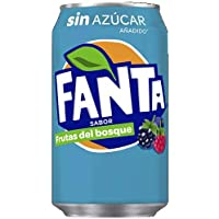 Fanta Frutas del Bosque zero azúcar Lata - 330 ml