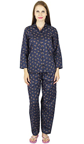 Bimba Cotone Biancheria da notte pigiama maglietta a maniche lunghe & Pigiama Di Gingerbread Man Stampa impostato Blau