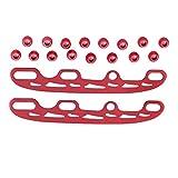 Singeru Lama di Ricambio in Acciaio Inox per Pattini da Ghiaccio e Hockey su Ghiaccio, Kit di Manutenzione Accessori per Uomo 29 cm (Taglia: 38-45), Red