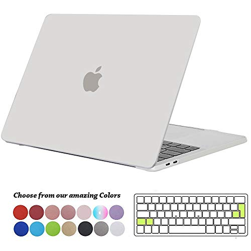 TECOOL MacBook Pro 15 Hülle 2019/2018/ 2017/2016 Case, Plastik Hartschale Schutzhülle Cover mit Transparent EU Tastaturschutz für Apple MacBook Pro 15 Zoll mit Touch Bar Modell: A1990/ A1707 -Klar - Klar 15 Case Das Macbook Pro Retina