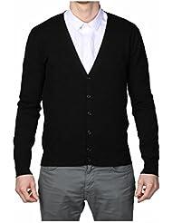Cardigan simple noir pour homme