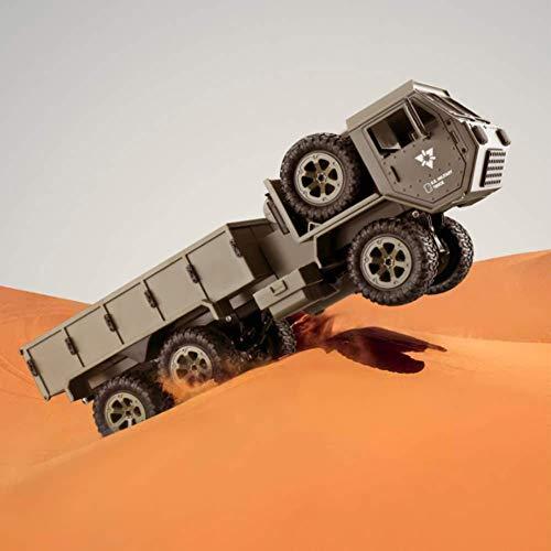 WYZXR Fernsteuerungs-LKW für Jungen Weg von der Straße, 1:16 Fernsteuerungs des Militär-LKW-6x6 2.4G mit WiFi-Kamera 4WD ladbare Kleintransporter für Kinderauto-Spielwaren-Geschenke