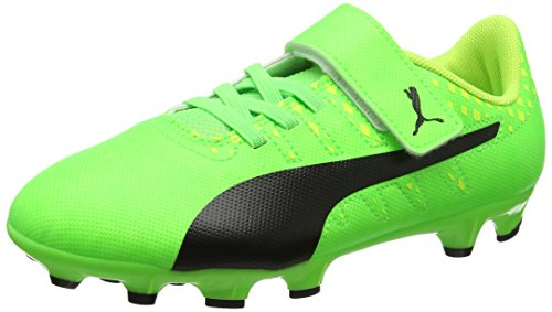 Puma Evopower Vigor 4 Ag V Ps, Scarpe da Calcio Unisex – Bambini Verde (Green Gecko-puma Black-safety Yellow 01)