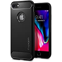 Spigen Rugged Armor iPhone 8 Case / iPhone 7 Case with Resilient Shock Absorption and Carbon Fiber Design for Apple iPhone 8 (2017) / iPhone 7 (2016) - Black