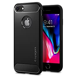 Spigen Rugged Armor, Designed for iPhone 8 (2017), iPhone 7 Case (2016) – Black