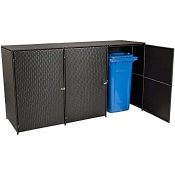 m lltonnenbox f r 3 tonnen zu je 240 liter modell pacco garten. Black Bedroom Furniture Sets. Home Design Ideas