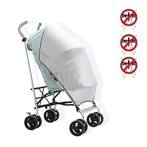 Zanzariera universale per carrozzina, passeggino, carrozzina, culla, culla e lettino a ombrello di tutte le marche per bambini, protezione dagli insetti
