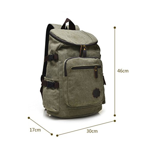 Zhhlaixing Borse di moda Classic Special Unisex Canvas Shoulder Package Bags Korean Style Travel Backpack Tide Leisure for Male Female Common Khaki