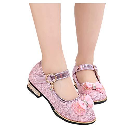 ShaDiao Kleinkind Schuhe Kinderschuhe Mädchen Kristall einzelne Schuhe Ballerinas Schuhe Lederschuhe MädchenPrinzessin Schuhe