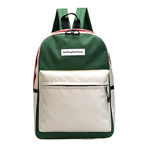 EVAEVA-bags Schulrucksack Backpack Paar Schultasche Reisen Wandertasche Farbblock Rucksack Sammlung leuchtende Tasche Tasche Damen Groß
