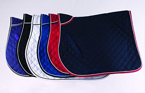 Trapuntato-Sottosella per cavallo, colore: blu di grandi dimensioni, decorato con bordo a contrasto