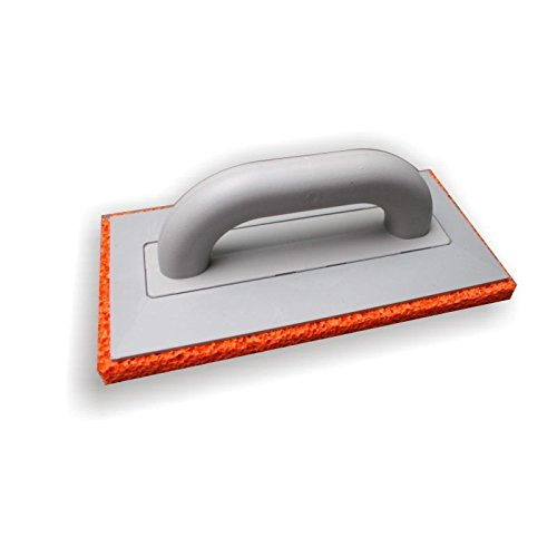 DEWEPRO® Schwammscheibe - Reibebrett (PS) mit 20mm Schwammgummi-Auflage - 280x140mm