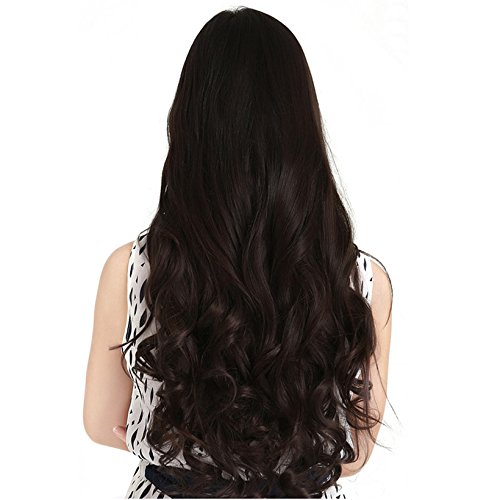 Samyak Women's Brown Curly hair extensions