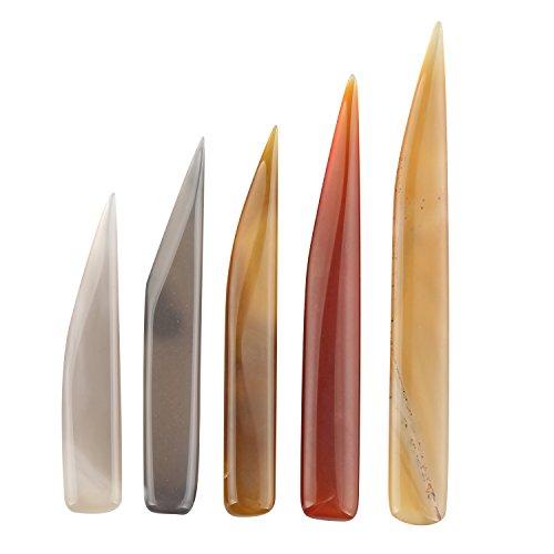 Fushengda 5x Schmuck Craft Achat Poliermittel Messer Craft Polieren Werkzeug für Gold und Remasuri
