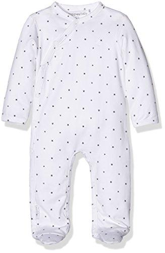 Noppies Unisex Baby U Playsuit Riche 67353 Strampler, White C001, (Size:56)