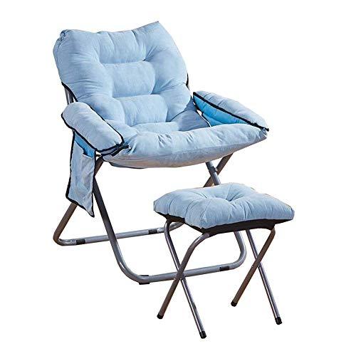 YJYLJ Tragbare Klappstuhl, Gartenstuhl PP Baumwolle Rund Moon Chair Polsteraußen Camping, 6 Color (Farbe: Grau)