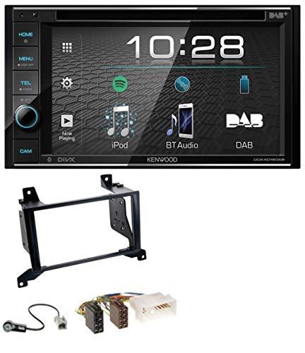 caraudio24 Kenwood DDX4019DAB USB DVD DAB MP3 Bluetooth 2DIN Autoradio für Hyundai Santa Fe (cm 09-12)