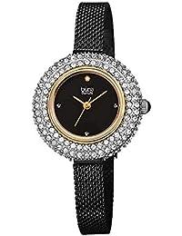 bb40ec24c340 Burgi® BUR236 - Reloj de Pulsera de Malla de Acero Inoxidable con Cristales  Swarovski y