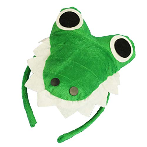 perfeclan Tierköpfe Haarreif Haarband Kopfband Kopfschmuck Cosplay Zubehör, Geschenk für Kinder und Freunde - Krokodil